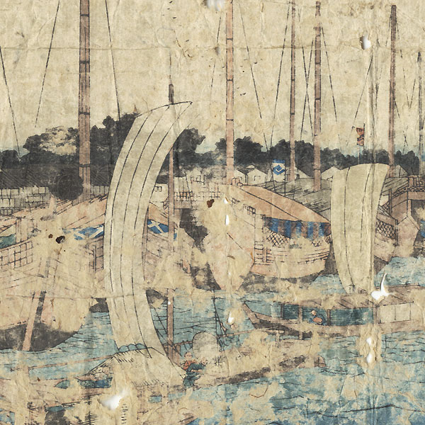 A Clearance Opportunity! Meiji or Edo era Original by Hiroshige (1797 - 1858)