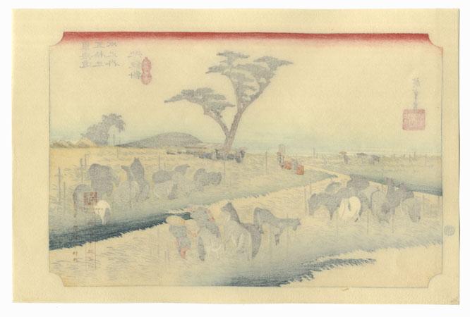 The Summer Horse Fair at Chiryu by Hiroshige (1797 - 1858)