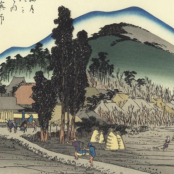 The Ishiyakushi Temple at Ishiyakushi by Hiroshige (1797 - 1858)