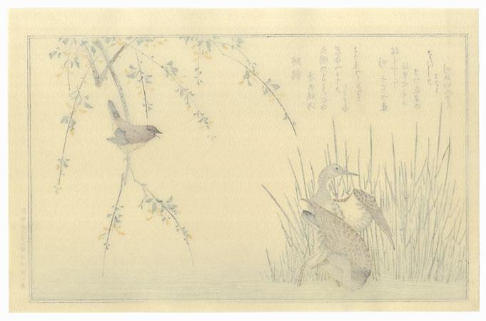 Wren and Snipe by Utamaro (1750 - 1806)