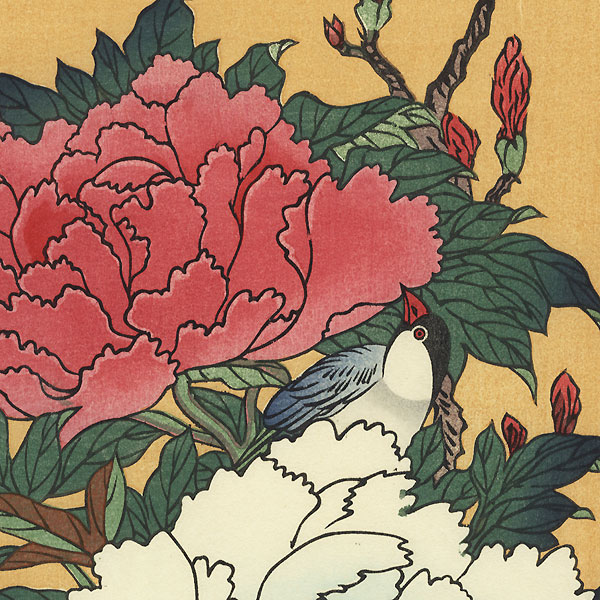 Peonies and Bird by Hiroshige (1797 - 1858)