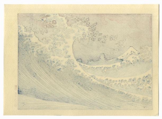 Fuji at Sea (Hokusai's Reverse Wave) by Hokusai (1760 - 1849)