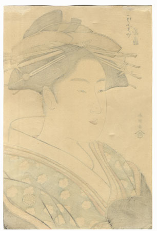 Kisegawa of the Matsubaya by Shuncho (active circa 1780 - 1795)