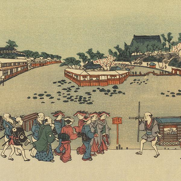 Shinobazu Pond by Toyoharu (1735 - 1814)