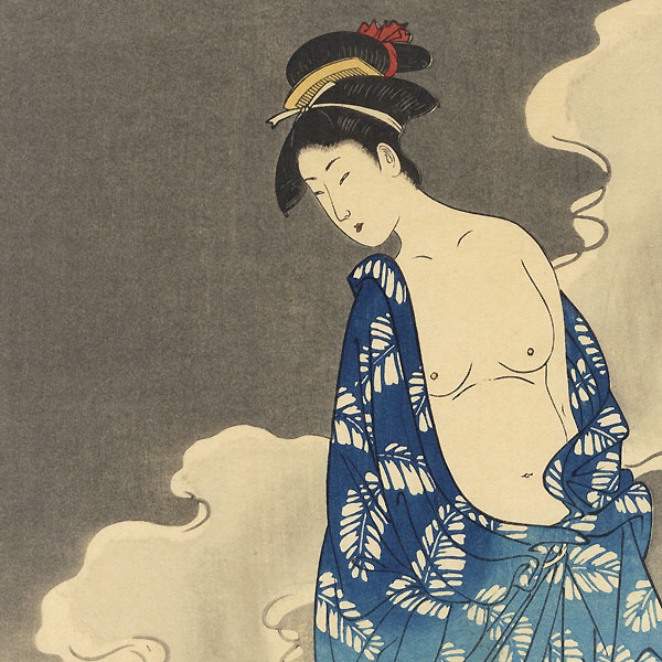 Beauty after a Bath and Cat by Toyokuni I (1769 - 1825)