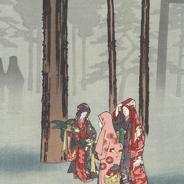 Izumo Province, Taisha, Depiction of Hotohoto by Hiroshige (1797 - 1858)