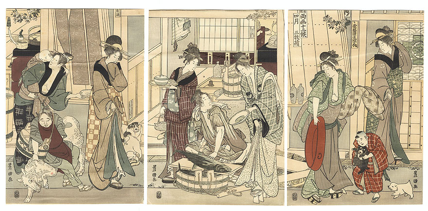 The Fourth Month by Toyokuni I (1769 - 1825) and Toyohiro (1773 - 1828)