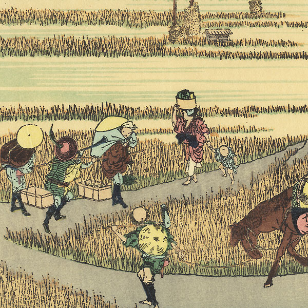 Fuji in a Good Harvest by Hokusai (1760 - 1849)