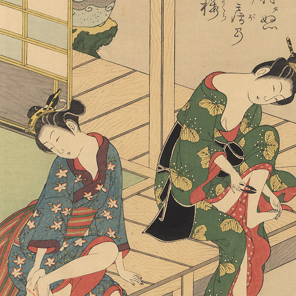 Beauties Grooming by Kiyohiro (active 1737 - 1776)