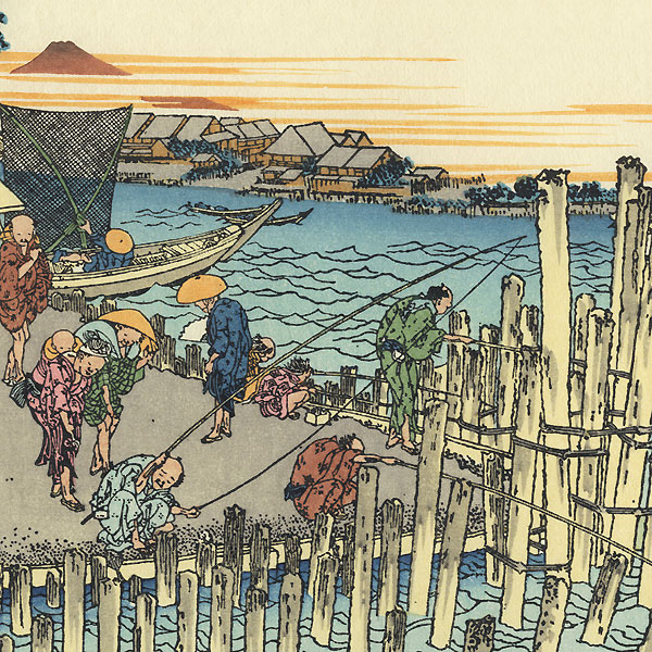 Fuji in the Evening Sun at Shimadagahana by Hokusai (1760 - 1849)