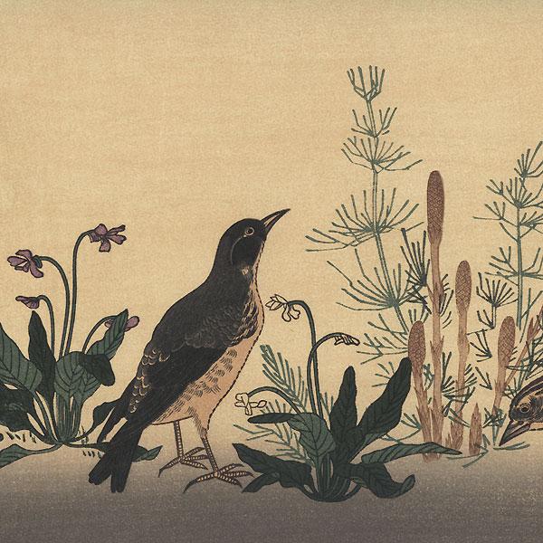 Quail and Skylark by Utamaro (1750 - 1806)