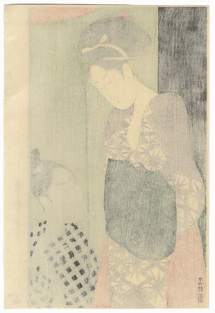Couple and Mosquito Net by Utamaro (1750 - 1806)
