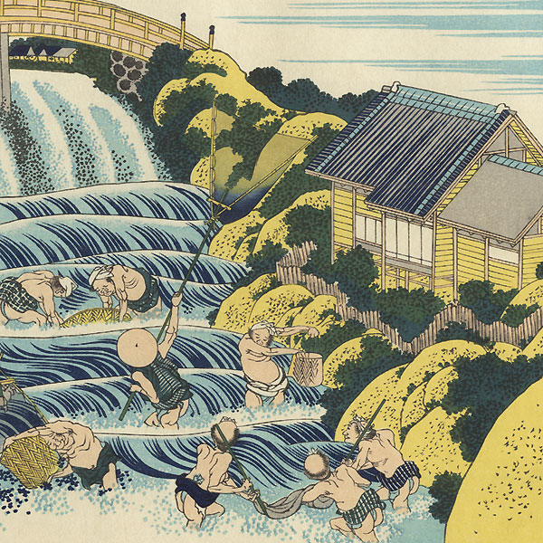 Fishing with Handheld Nets by Hokusai (1760 - 1849)