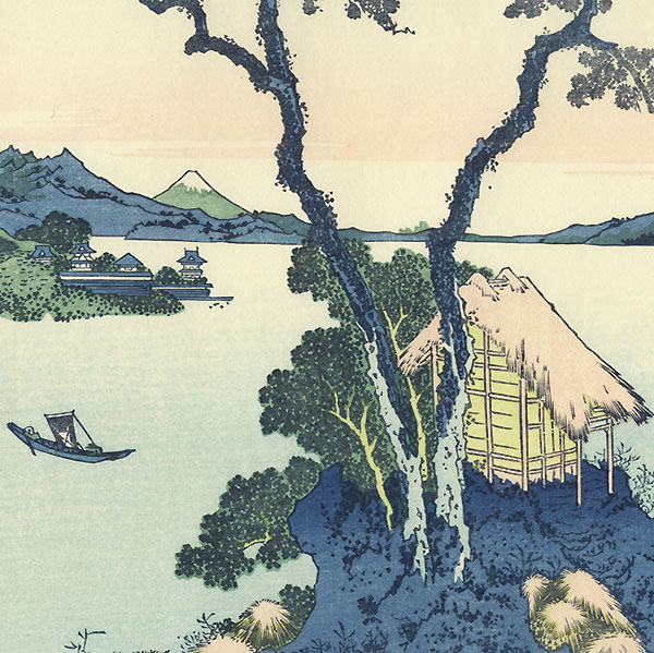 Lake Suwa in Shinano Province by Hokusai (1760 - 1849)