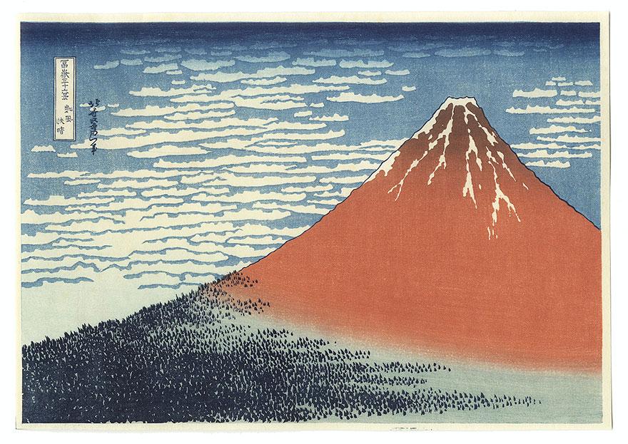 Red Fuji by Hokusai (1760 - 1849)