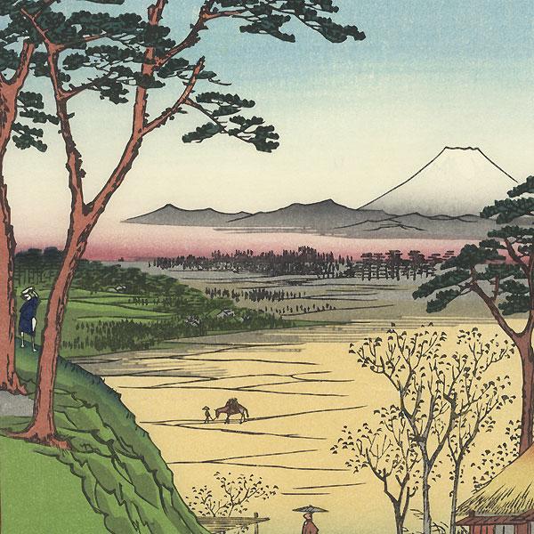 Grandpa's Teahouse, Meguro by Hiroshige (1797 - 1858)