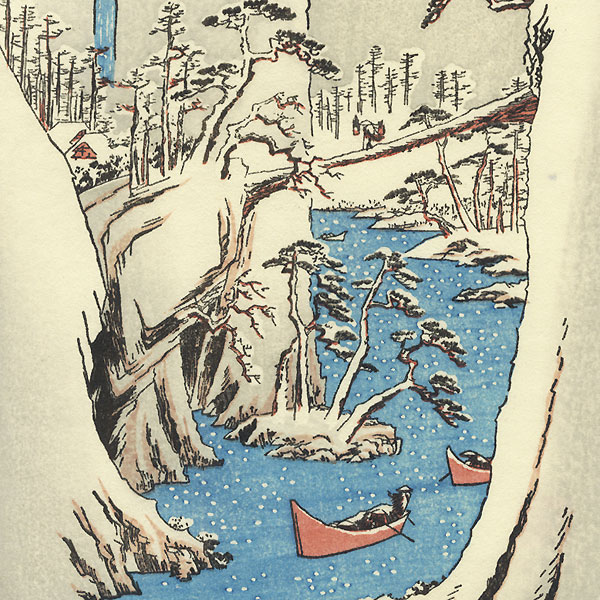 Snowy Gorge of the Fuji River by Hiroshige (1797 - 1858)