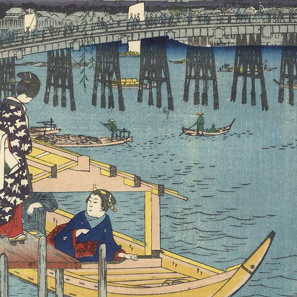 Ryogoku in the Eastern Capital by Hiroshige (1797 - 1858)