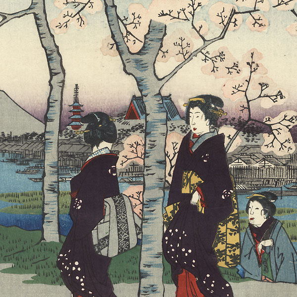 The Sumida Embankment in the Eastern Capital by Hiroshige (1797 - 1858)