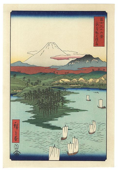 Noge and Yokohama in Musashi Province by Hiroshige (1797 - 1858)