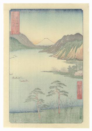Lake Suwa in Shinano Province by Hiroshige (1797 - 1858)