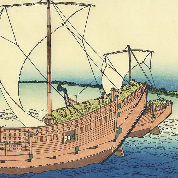 At Sea off Kazusa by Hokusai (1760 - 1849)