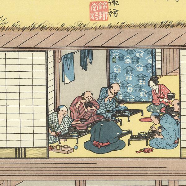 Shimosuwa, Station 30 by Hiroshige (1797 - 1858)
