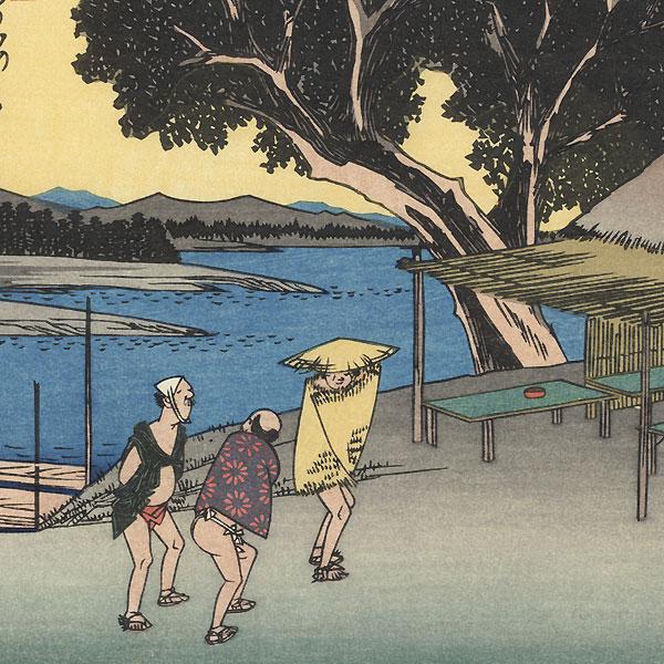 Shionata, Station 24 by Hiroshige (1797 - 1858)
