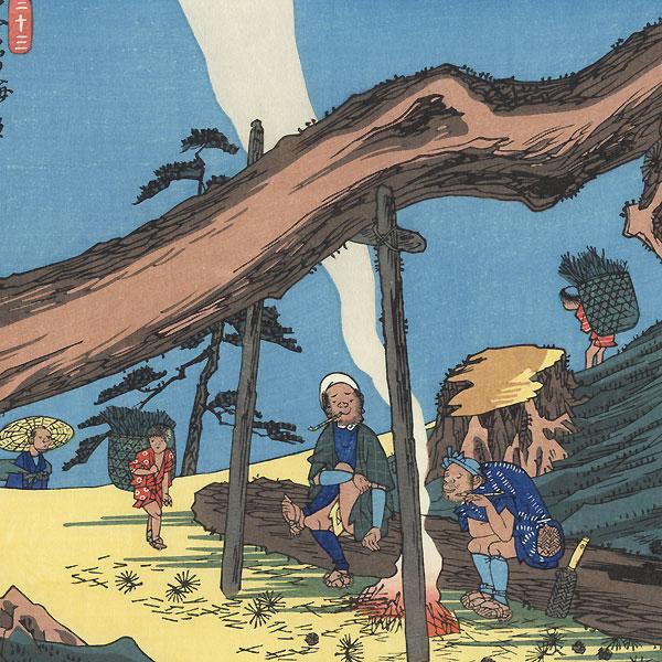 Motoyama, Station 33 by Hiroshige (1797 - 1858)