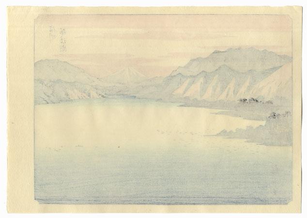 Shinshu Suwa-ko by Hiroshige (1797 - 1858)