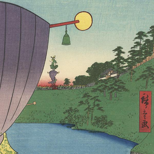 Sanno Festival Procession at Kojimachi 1-chome by Hiroshige (1797 - 1858)
