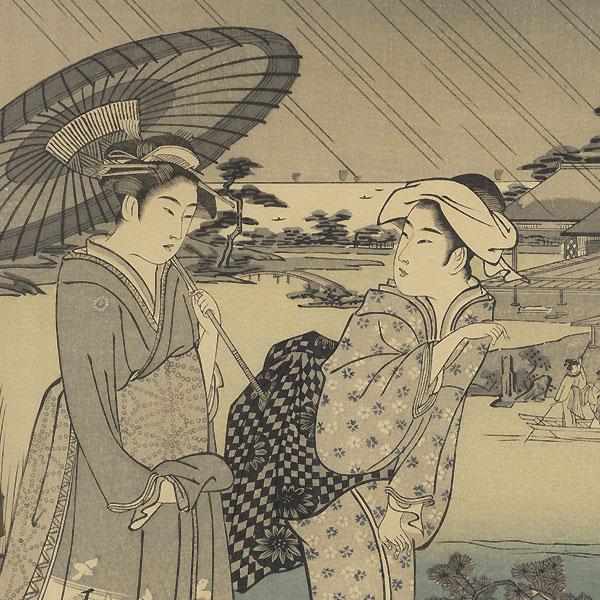 Praying for Rain by Eishi (1756 - 1829)