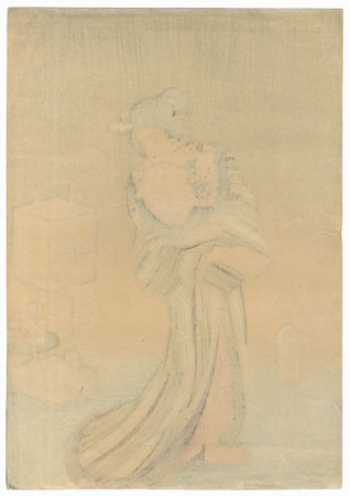 Courtesan and Lamp by Toyokuni III/Kunisada (1786 - 1864)
