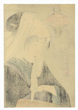 Love for a Street-walker Fine Watanabe Reprint by Utamaro (1750 - 1806)