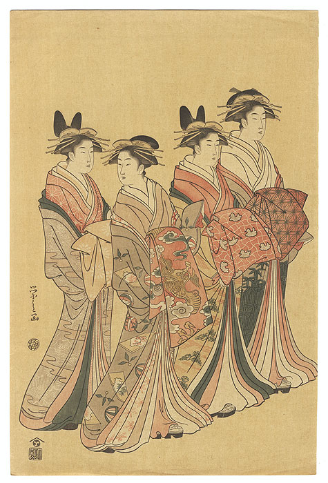 Fine Old Reprint Clearance! A Fuji Arts Value by Eishi (1756 - 1829)