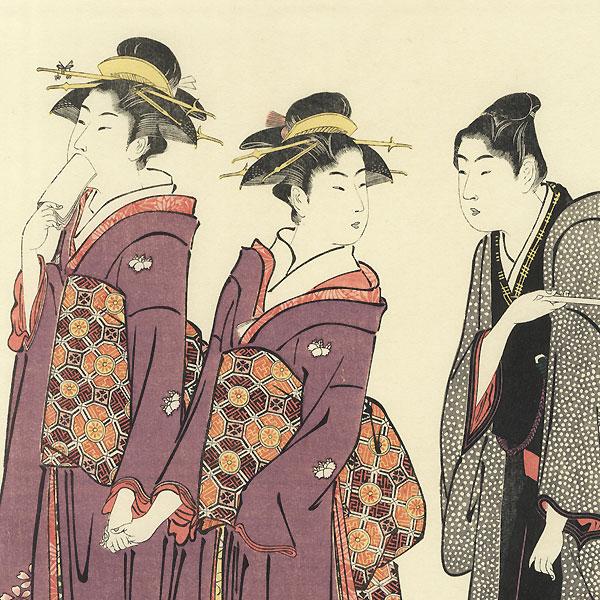 Fine Old Reprint Clearance! A Fuji Arts Value by Kiyonaga (1752 - 1815)