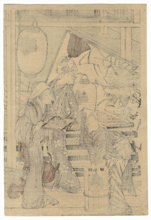 Housecleaning by Utamaro (1750 - 1806)