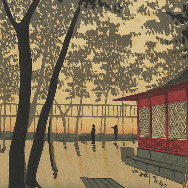 Dawn at Kanda Shrine by Kiyochika (1847 - 1915)