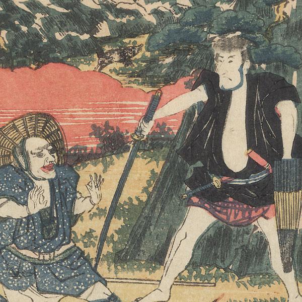 The 47 Ronin, Act 5: The Yamazaki Highway by Edo era artist (unsigned)