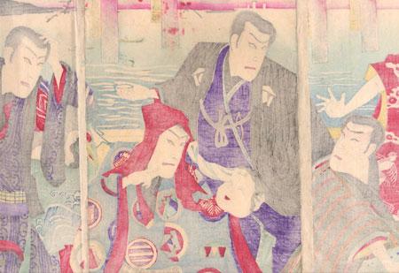 Men with Masks, 1890 by Kunisada III (1848 - 1920)