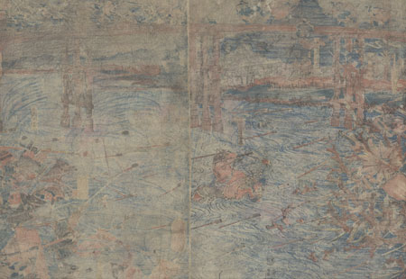 Fuji Arts Overstock Diptych - Unbelievable Bargain! by Yoshitora (active circa 1840 - 1880)