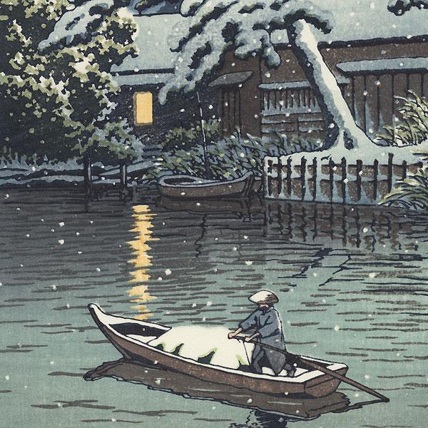 Snow at Funabori, 1932 by Hasui (1883 - 1957)