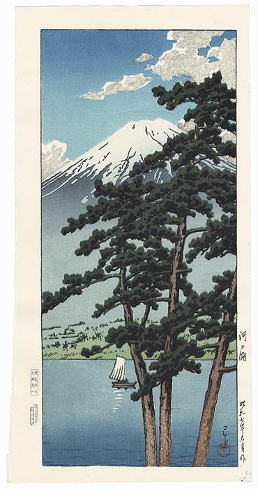 Lake Kawaguchi, 1932 by Hasui (1883 - 1957)