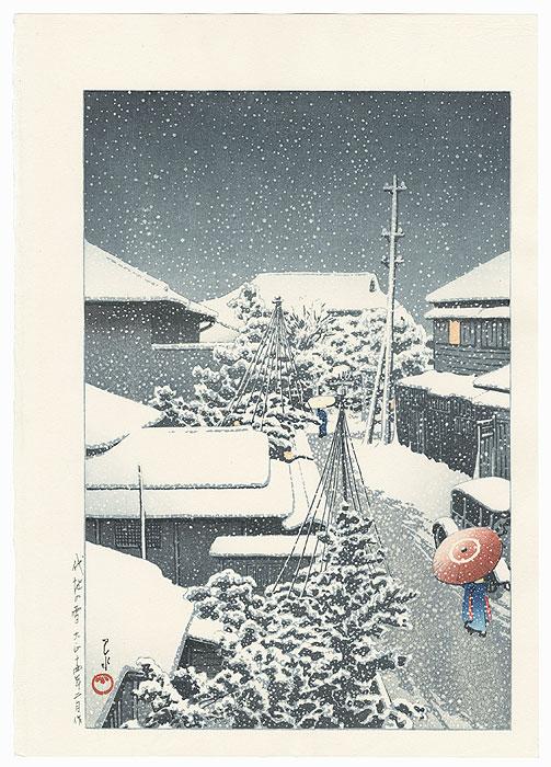 Snow at Daichi (Daichi no yuki), 1925 by Hasui (1883 - 1957)