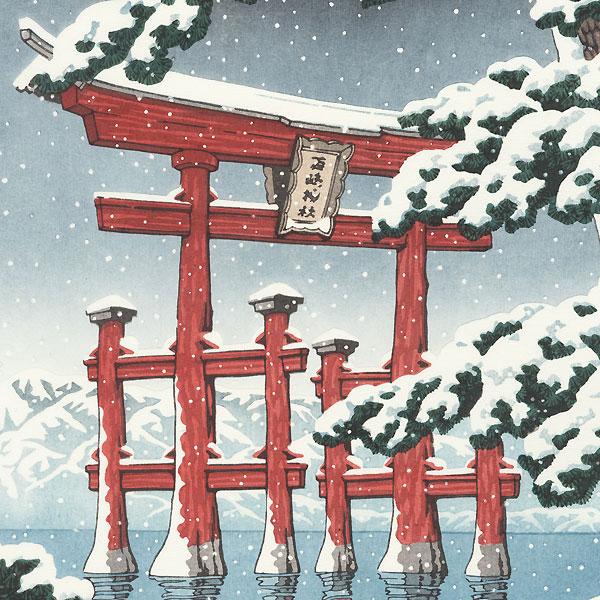 Snow at Miyajima, 1929 by Hasui (1883 - 1957)