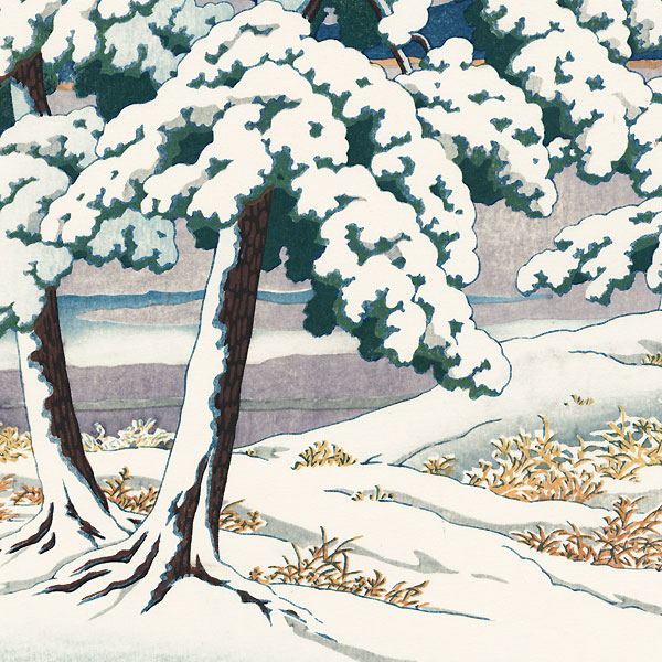 Clearing after a Snow in the Pines (Matsu no yukibare), 1929 by Hasui (1883 - 1957)