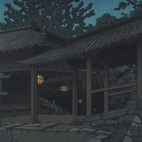Fuji Arts Japanese Prints - Night at Hasedera Temple, 1950 by Kawase Hasui  (1883 - 1957)
