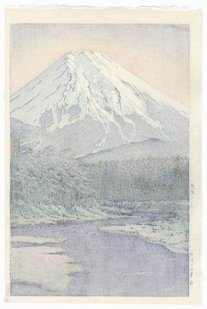 Mt. Fuji Seen from Oshino, 1942 by Hasui (1883 - 1957)