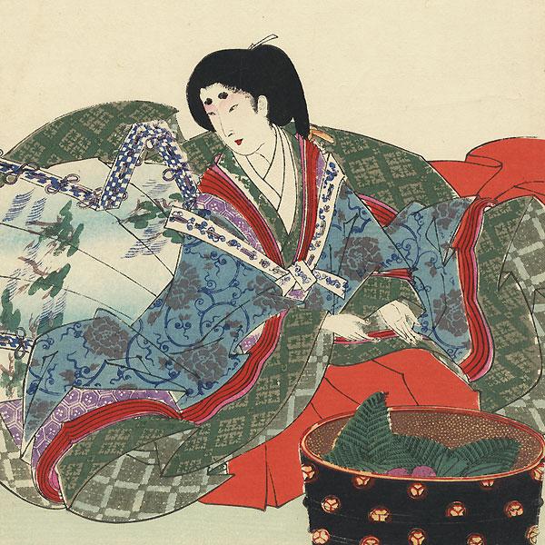 Washing Fruit by Chikanobu (1838 - 1912)