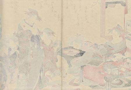 The Courtesans Hinazuru and Chozan by Masanobu (1761 - 1816)